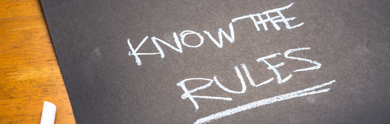 """""""Know the rules"""" with chalk"""