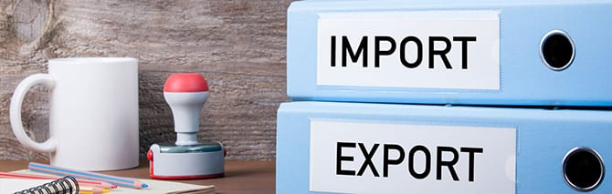 import export folders and regulations